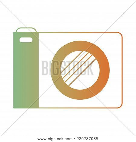 photo camera icon in degraded green to red color silhouette vector illustration