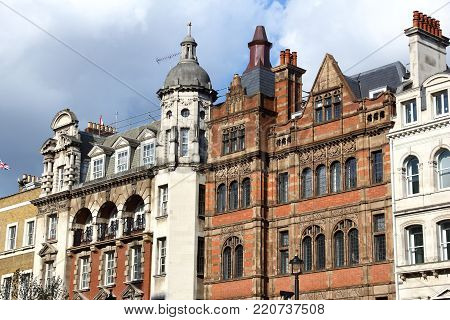 London, Uk - Architecture At Parliament Street, City Of Westminster.