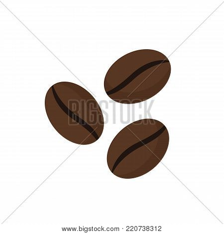 Coffee beans icon isolated on white background. Vector stock.