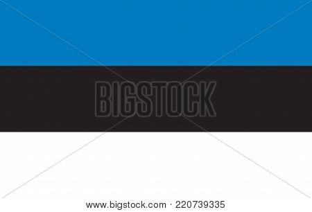 Flag of Estonia oficial colors and proportions