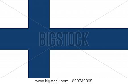 Flag of Finland oficial colors and proportions
