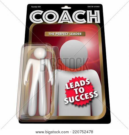 Coach Leadership Mentor Manager Action Figure 3d Illustration
