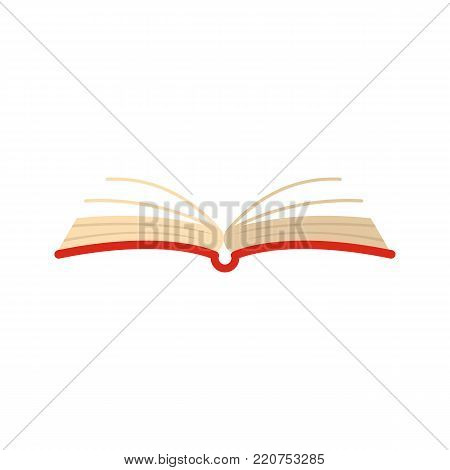 Book literature icon. Flat illustration of book literature vector icon isolated on white background