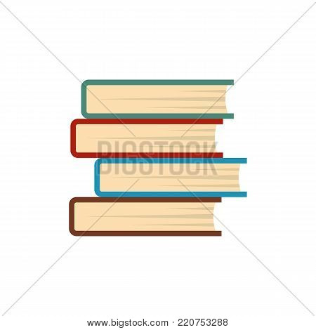 Book student icon. Flat illustration of book student vector icon isolated on white background