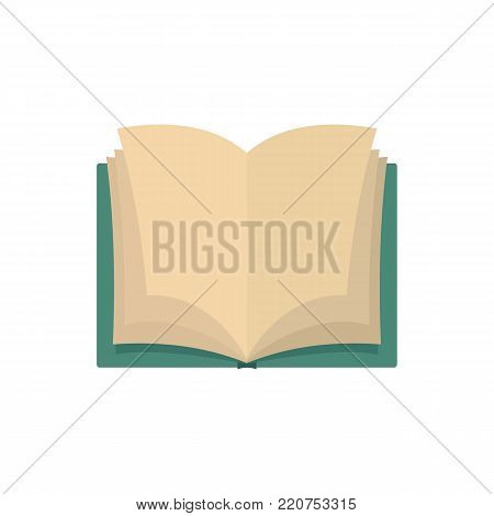 Book dictionary icon. Flat illustration of book dictionary vector icon isolated on white background