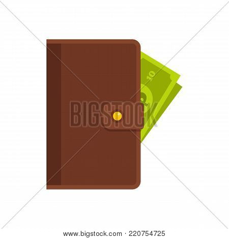 Purse man icon. Flat illustration of purse man vector icon isolated on white background