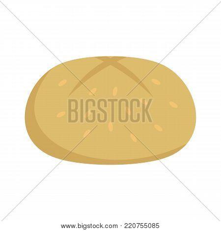 Bun icon. Flat illustration of bun vector icon isolated on white background