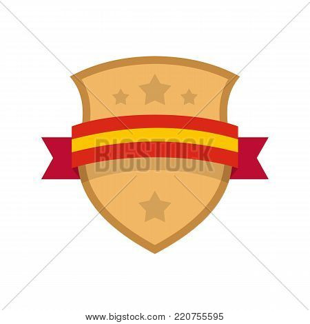 Badge knight icon. Flat illustration of badge knight vector icon isolated on white background
