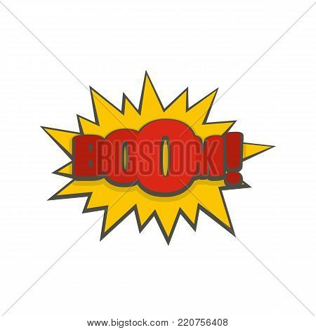 Comic boom big icon. Flat illustration of comic boom big vector icon isolated on white background