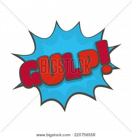 Comic boom gulp icon. Flat illustration of comic boom gulp vector icon isolated on white background