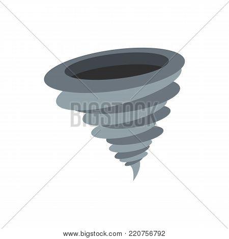 Hurricane icon. Flat illustration of hurricane vector icon isolated on white background