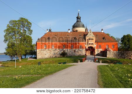 The Swedish 16th century Gripsholm castle during the spring, is located in the town Mariefred in the Swedish province of Sodermanland.
