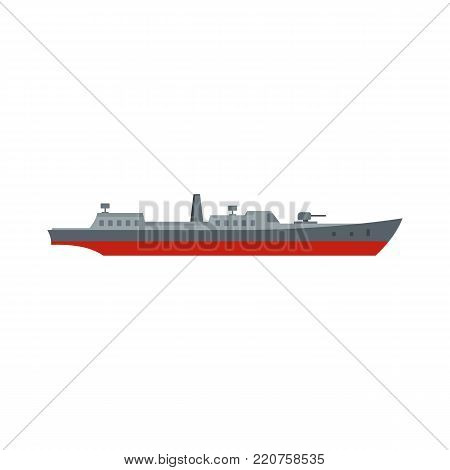 Ship combat icon. Flat illustration of ship combat vector icon isolated on white background