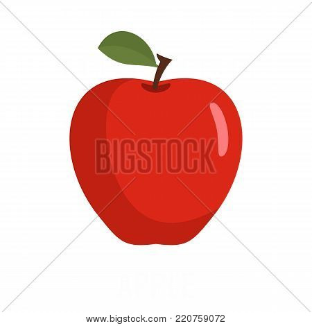 Apple icon. Flat illustration of apple vector icon isolated on white background