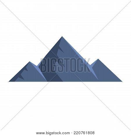 Mountain peak icon. Flat illustration of mountain peak vector icon isolated on white background