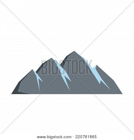 Large mountain icon. Flat illustration of large mountain vector icon isolated on white background