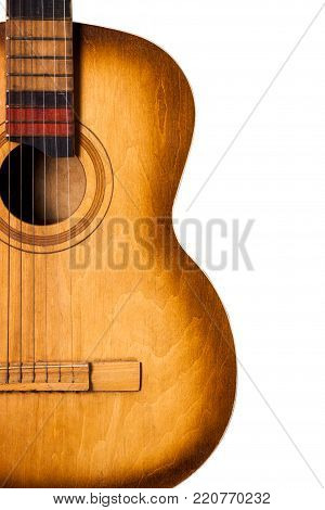 Old Guitar Isolated
