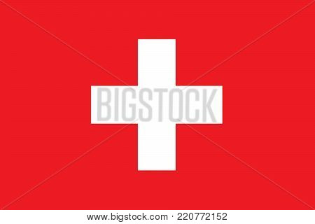 Flag of Switzerland, Swiss Flag oficial colors and proportions