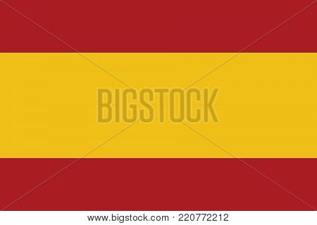 Flag of Spain oficial colors and proportions