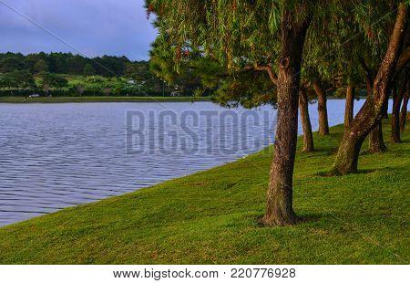 Lake Xuan Huong at summer day in Dalat, Vietnam.