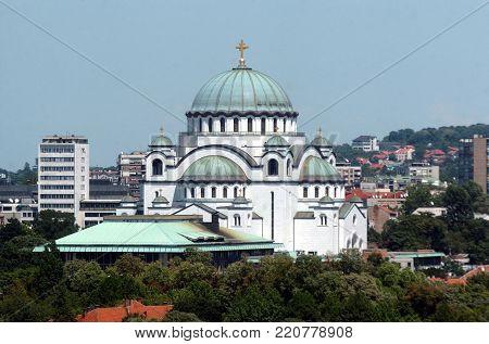 View on Saint Sava temple in Belgrade