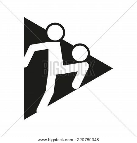 Triangle Block Football Soccer Juggling Sport Outline Figure Symbol Vector Illustration Graphic Design