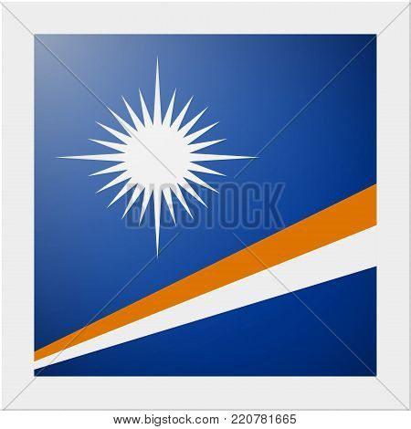 Oceania zone flag collection with photo of Marshall Islands flag , vector , illustration