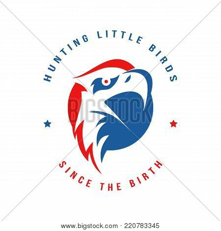 Vector Eagle Head with typography. Modern and High quality  Illustration for multipurpose.