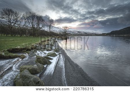 Abstract Landscape Image With Blur Filter For Use In Designs As A Background