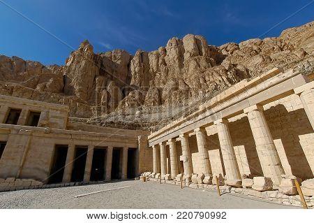 Pillar in temple of Hatchepsut, Luxor, Egypt