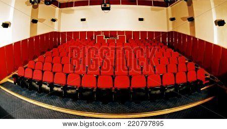 A wonderful cinema for the spectators in sanatorium