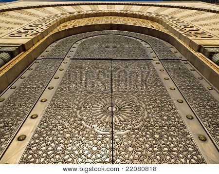 Ornate Mosque Door - Detail Of Carved Pattern