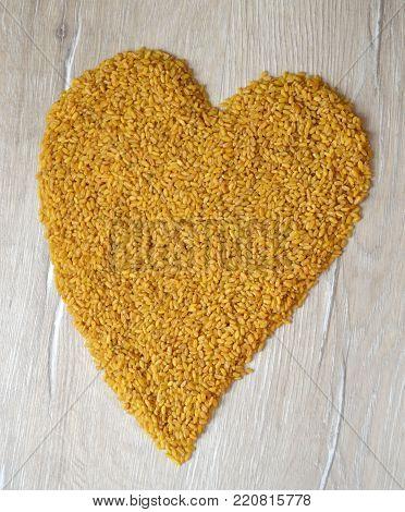 Heart Made With Bulgur, Love Bulgur Pila Very Much, Find Bulgur Benefits,