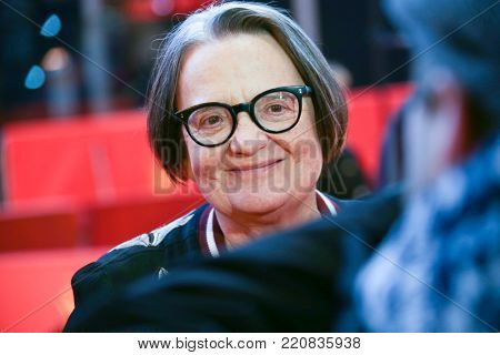 Agnieszka Holland attends to The Spoor red carpet during the 67th Berlinale  Film Festival Berlin at Grand Hyatt Hotel on February 12, 2017 in Berlin, Germany.
