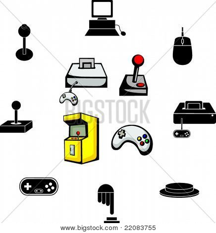 video game illustrations and symbols