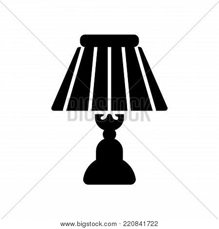 Lamps furniture light design electric vector illustration. Lamps decoration modern, classic bright bulb. Eps 10