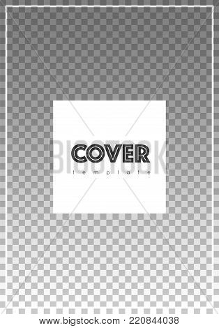 Brochure Template Design. Modern Cover Page Layout. Energetic Trendy Poster Design. Minimalistic Cor