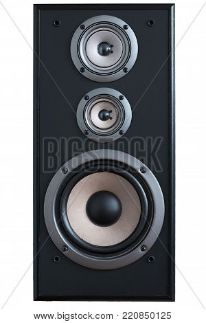 Image wooden speaker with tweeter and woofer