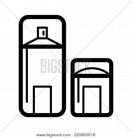 Dry deodorant line icon. Deodorant stick vector icon. eps 10