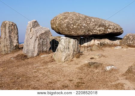 The Havang Dolmen is a 5000 years old  burial chamber from the stone age located in the Swedish province of Scania.