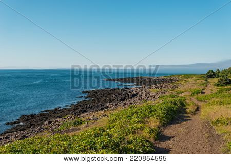Brier Island Coastline in the summer (Nova Scotia, Canada)