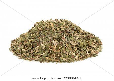 Thuja leaf herb used in alternative herbal medicine to help respiratory tract, bacterial infections and cold sores it also has other additional uses to improve health conditions. Thuja occidentalis.