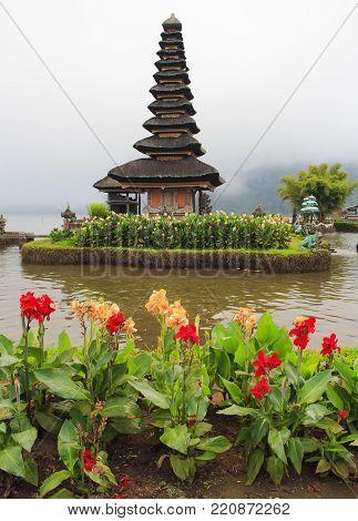 The Temple Of Pura Ulun Danu Bratan. Bali island. Indonesia.