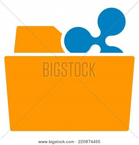 Ripple Folder flat vector icon. An isolated ripple folder pictograph on a white background.