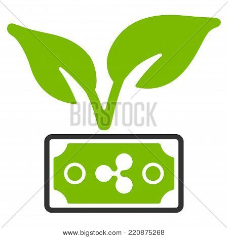 Ripple Eco Startup flat vector icon. An isolated ripple eco startup illustration on a white background.