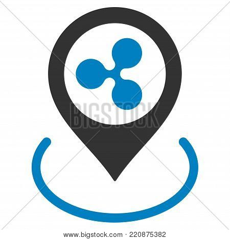 Ripple Location flat vector icon. An isolated ripple location pictogram on a white background.