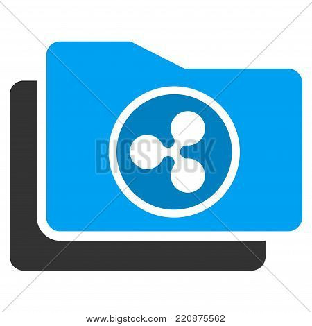 Ripple Purse flat vector icon. An isolated ripple purse pictograph on a white background.