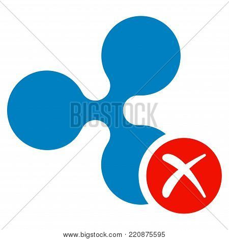 Ripple Reject flat vector icon. An isolated ripple reject pictograph on a white background.