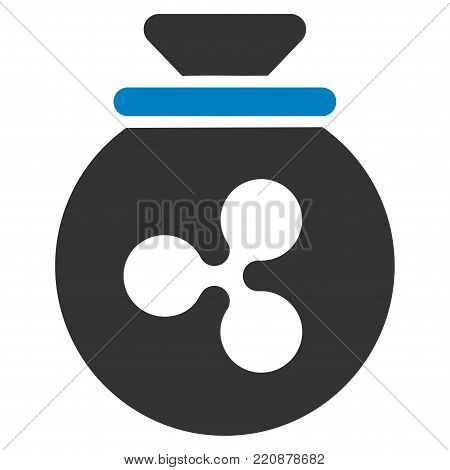 Ripple Harvest Sack flat vector icon. An isolated ripple harvest sack illustration on a white background.