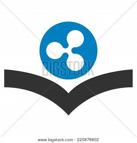 Ripple Knowledge Book flat vector icon. An isolated ripple knowledge book symbol on a white background.